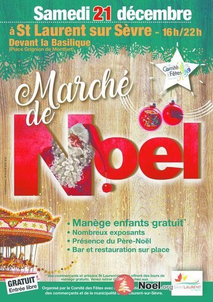 Marché de Noël de St Laurent sur Sèvre